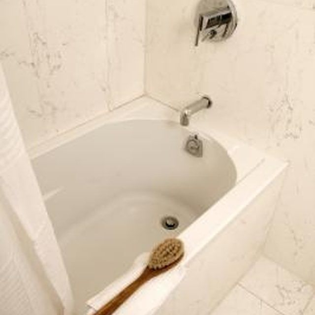 When you clean your fiberglass bathtub, be sure to use a nonabrasive scrub brush.