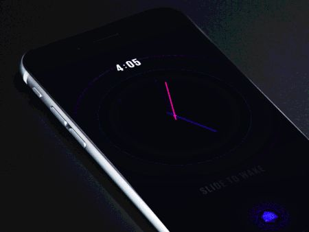 Neon Clock Animation by Gleb Kuznetsov—The Best iPhone Mockups for Your Next Product → store.ramotion.com