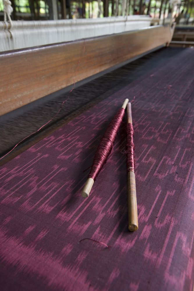 Ikat on the loom from Vietnam