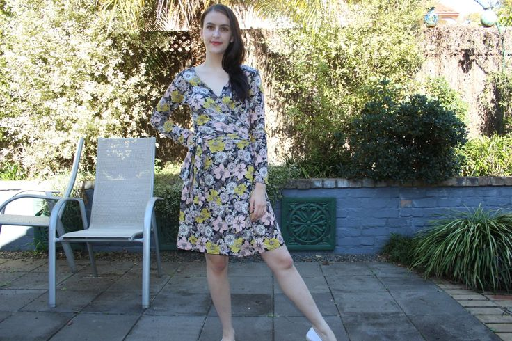 Ultimate wrap dress by sew over it with fabric from minervacrafts.com