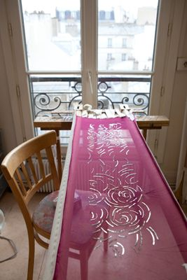 Lesage Embroidery House, Paris.  (Photo by Helen Cathcart)
