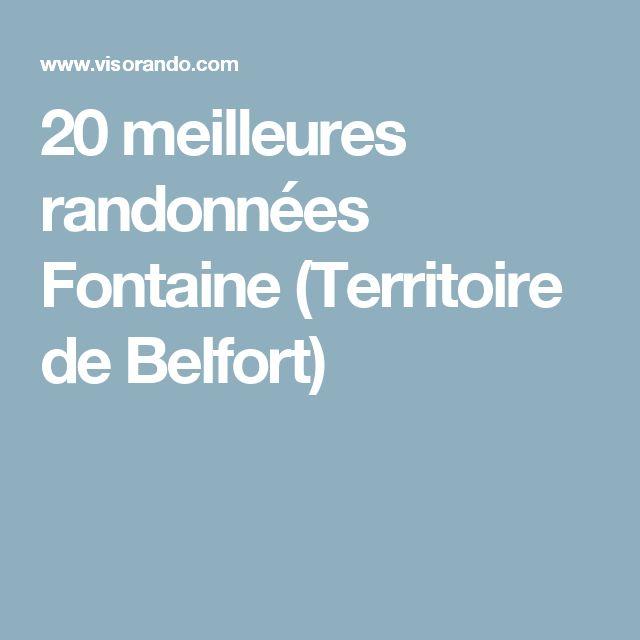 20 meilleures randonnées Fontaine (Territoire de Belfort)