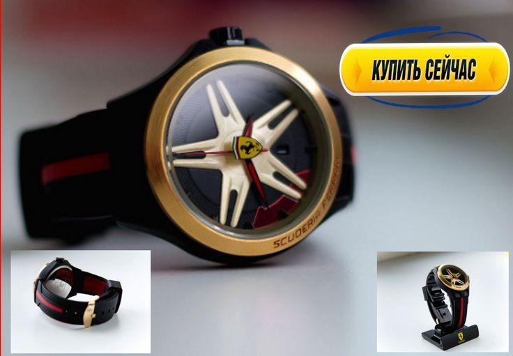Корпус из нержавеющей стали, устойчивое к царапинам стекло,  Качественные часы от FERRARI каучуковый ремешок, статусный дизайн Гарантия год Оплата после доставки.