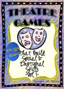 These 20 classic theatre games practice valuable social and life skills such as: communication, attentive listening, focus, quick and creative thinking, cooperation, handling stressors and other pressures, healthy risk-taking and much more! No prep or additional materials and appropriate for varying sized groups, so you can bust them out ANY time!