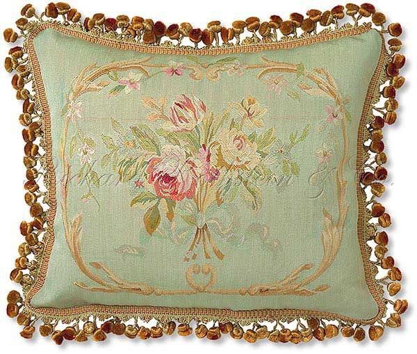 Classic French Tapestry Aubusson Pillow