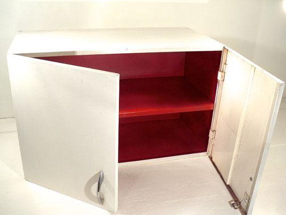 Vintage Metal Wall Cabinet- Industrial Utility Cupboard ...