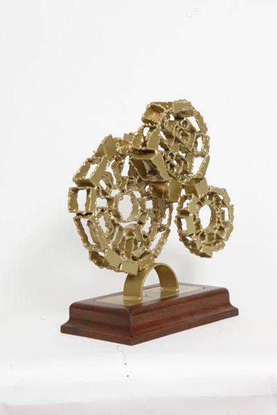 Akelo Andrea Cagnetti - STRANGE MECHANISM #1 (A. 38 cm; L. 29 cm; P. 16,3 cm) Scultura Metallo