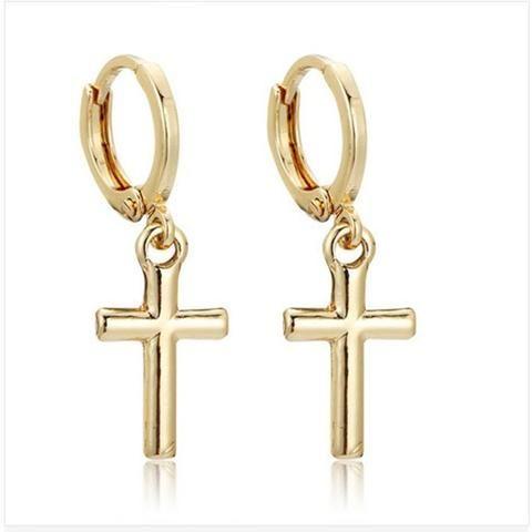 Stunning Sacred Pair of Cross Drop Earrings
