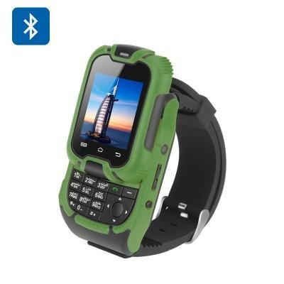 Smart Watch, Mobile Watch Phone with Keypad, 1.44 Inch, LCD Screen, Green