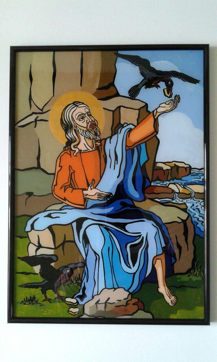 Sf.Ilie pictura pe sticla - Corina Stanciu