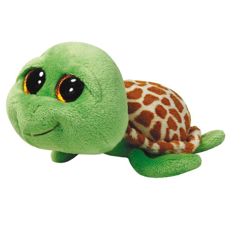 Ty Beanie Boo XL pluchen knuffel genaamd Zippy. Deze schildpad heeft een zachte groene vacht en een bruin gevlekte zachte schild. In haar grote kraalogen zie je een gouden glinstering. Zippy is extra groot waardoor je er heerlijk mee kunt knuffelen. Door de stevige vulling in haar platte buik blijft de Ty Beanie Boo ook los gemakkelijk rechtop liggen. Afmeting: lengte 42 cm - Ty Beanie Boo XL Zippy - 42 cm