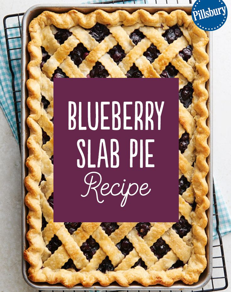 This flaky, single layer Blueberry Slab Pie recipe will be welcome at any party for the spring or summer months! The crust is filled with plump, juicy blueberries and topped with a sweet diagonal crust. It's so easy and everyone will rave at your get-together.