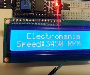 Motor Speed Tester Using Arduino & IR Sensor