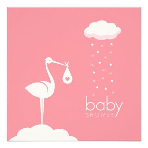 1231 besten stork theme baby shower supplies bilder auf pinterest, Einladung