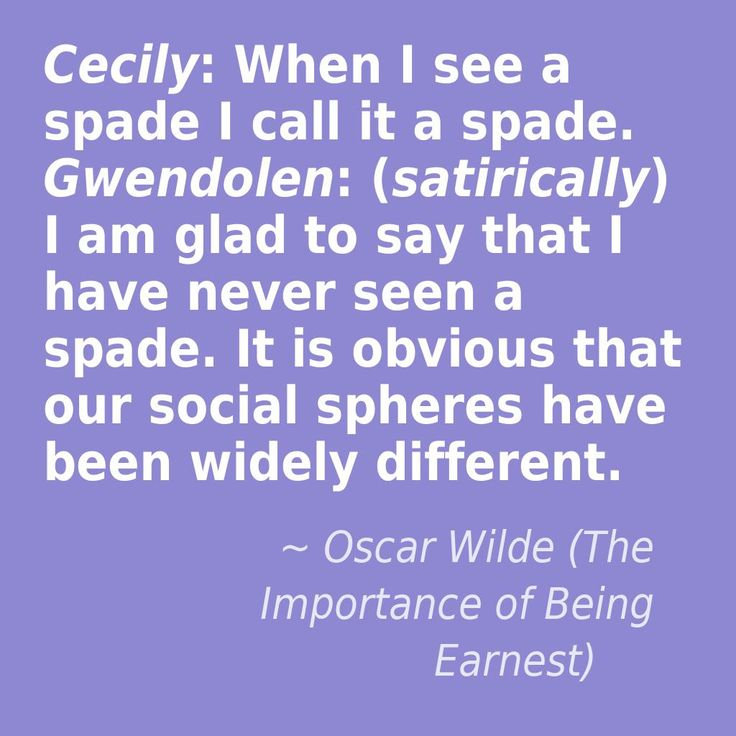 Gwendolen and Cecily in the Importance of Being Earnest