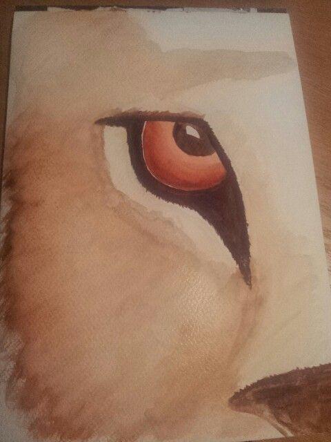 Watercolour tiger's eye xxxxxxx