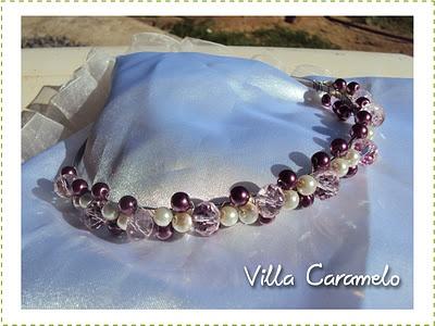 Cintillo o diadema de perlas