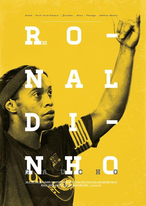 Football Legends by Dylan Giala, via Behance #soccer #poster