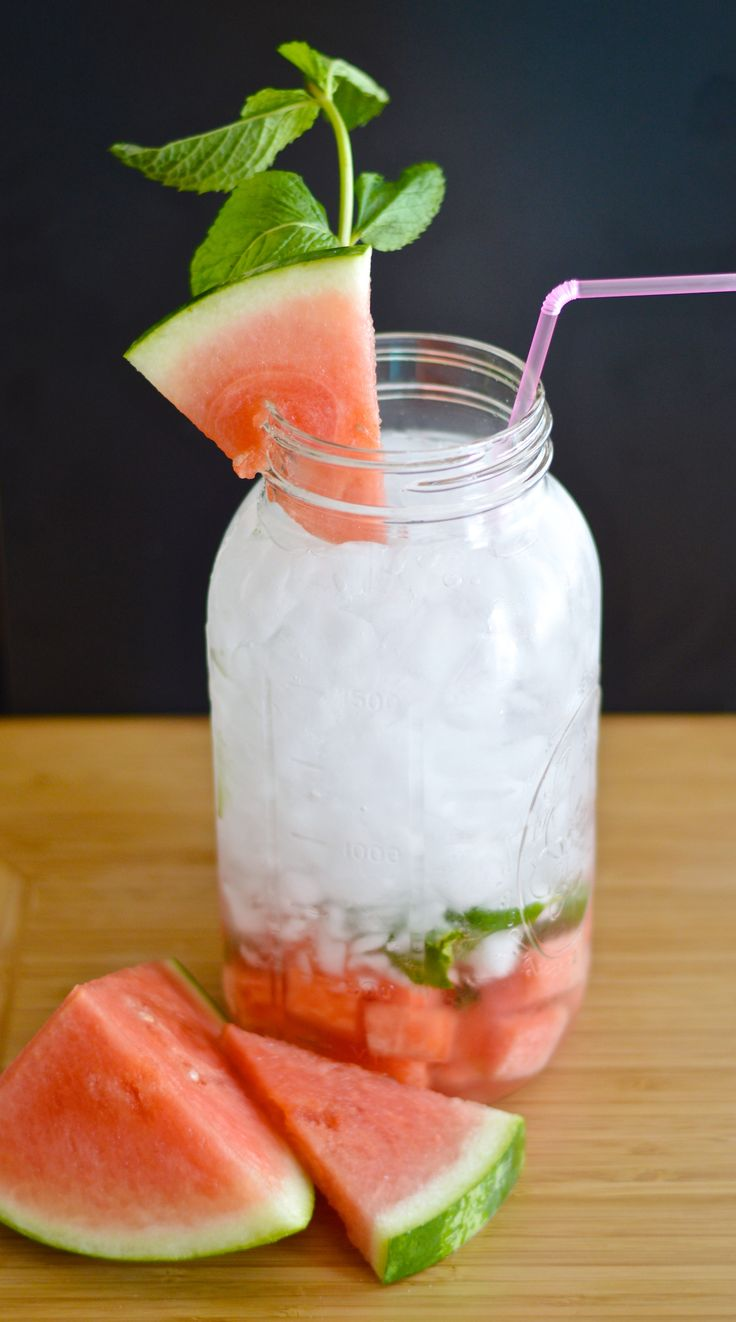 Watermelon mint infused water! Yummy!