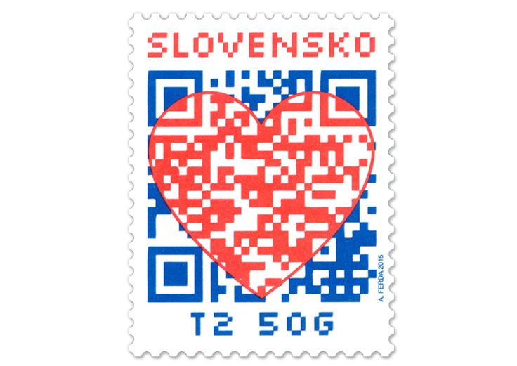 COLLECTORZPEDIA: Slovakia Stamps Valentine´s Day Card