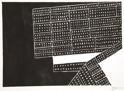 """""""Those"""", Refugee Stories by Kathryn Clark. Ink on paper"""