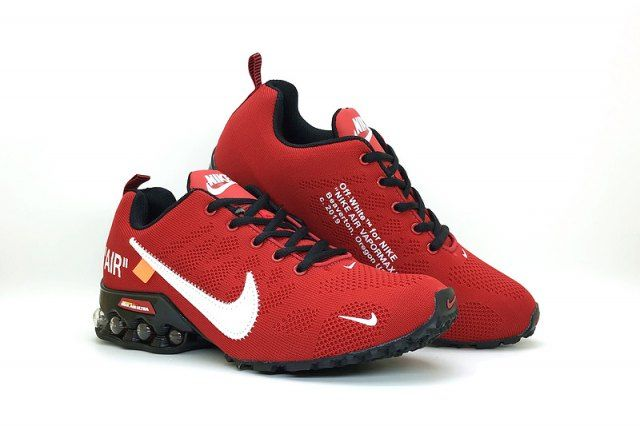 Mens Nike Air Shox Off White Bright Red Black Total Orange
