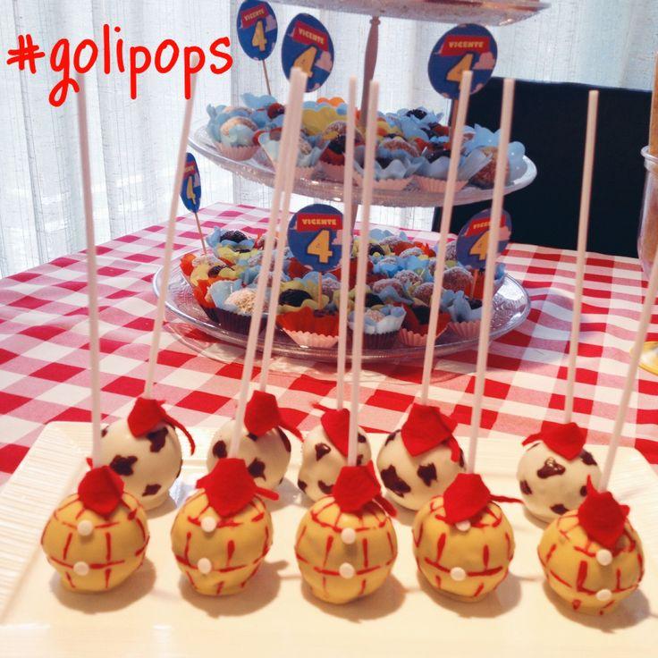 Woody Toy Story cakepops #golipops Birthday party  Www.fb.com/cocinagoligo