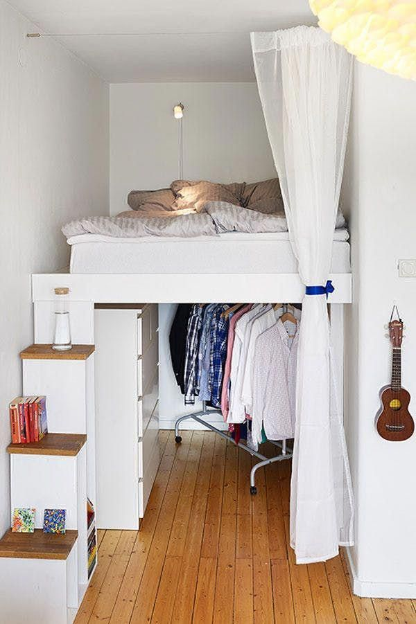 Small Bedroom Solution The Half Loft Apartment Therapy