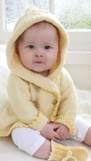 Babystrik | Det sødeste babysæt | Babyjakke med hætte og babysko