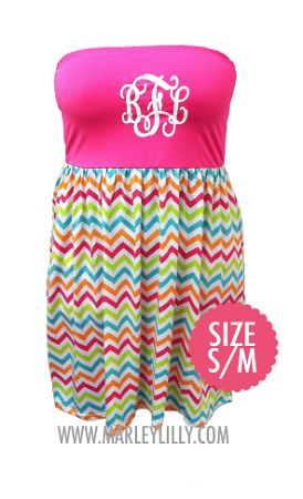 Monogrammed Chevron Bathing Suit Cover Up | Swimwear | Marley Lilly