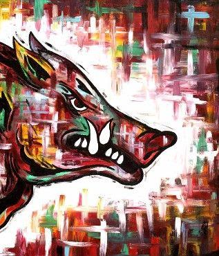 razorback painting                                                                                                                                                                                 More