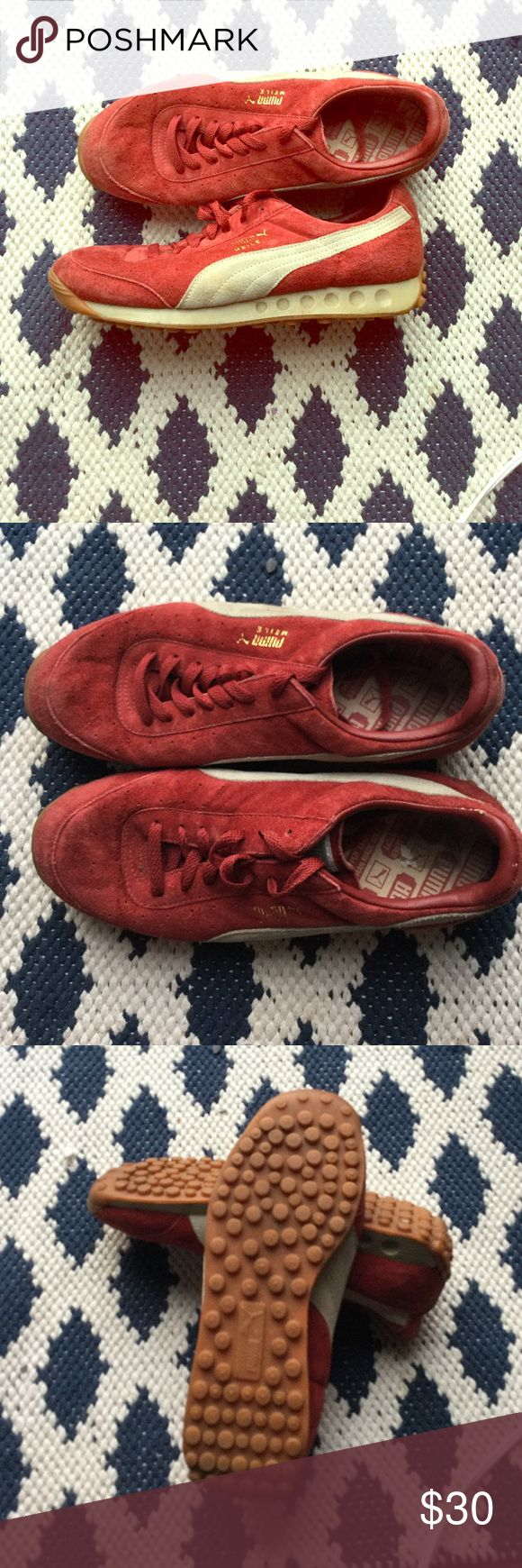 Red Men's Pumas Gently used, great condition red men's puma sneakers. Size 10.5 Puma Shoes Sneakers