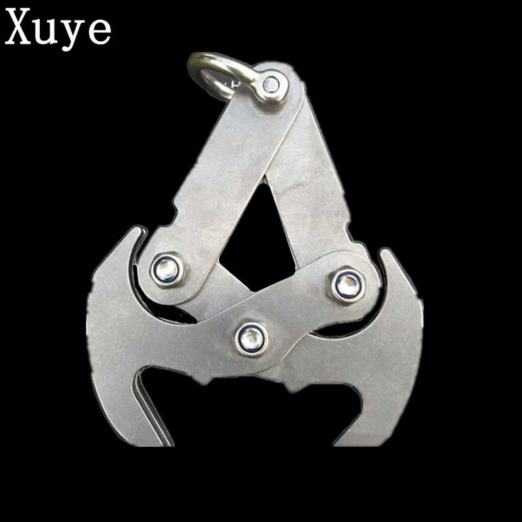 Stainless Steel camping hiking grappling gravity hook survival  Grappling hooks climbing claw carabiner Folding Outdoor tools