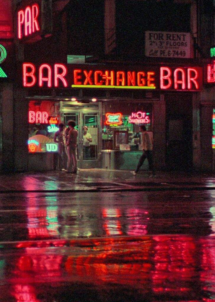 Scorsese's Taxi Driver.  Just looking at this picture makes me play the film score in my head.  Some of my favorite stuff by Bernard Herrmann.
