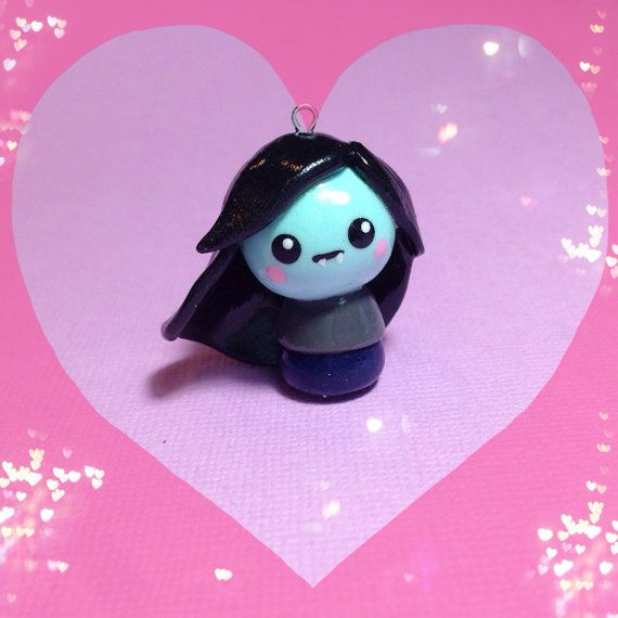 Adventure Time Marceline Polymer Clay Charm by PixieAddictions, $4.00
