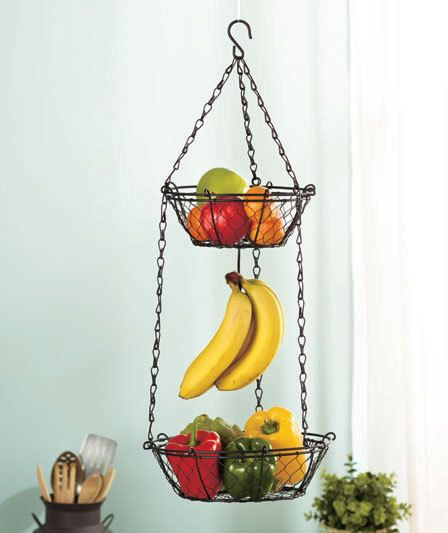 18 Best Images About Hanging Basket On Pinterest Fruits Basket Kitchen Rustic And Rooster Kitchen