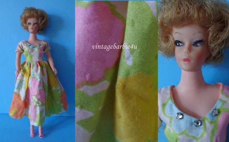 Vintage Barbie Doll Clone Uneeda Wendy Babs Bild Lilli in Flock Dress Rhinestone #UneedaUnique #DollswithClothingAccessories