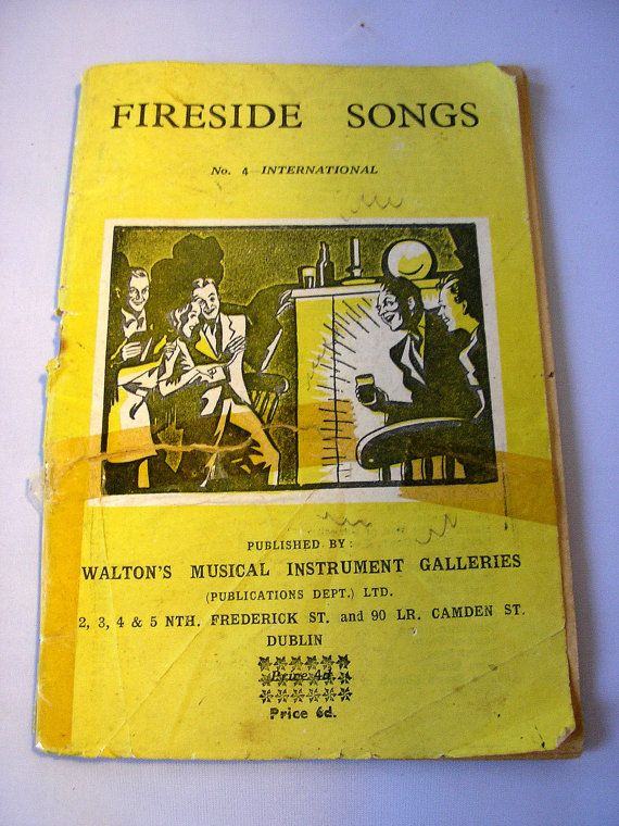 1940s song booklet Fireside Songs No 4 by TheIrishBarn on Etsy