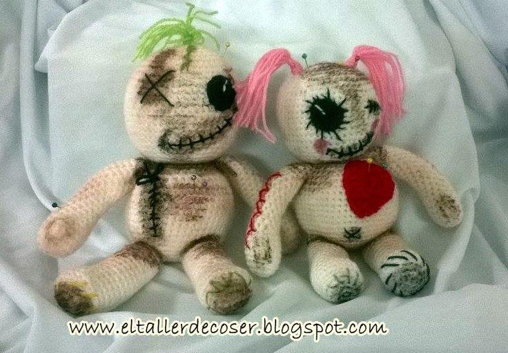 Muñecos vudú en amigurumi