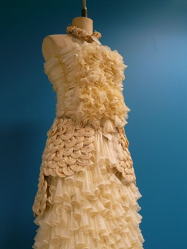 One thing that should NEVER be recycled: Condom Dress | Community Post: 10 Recycled Dresses. Ugly Fashion.