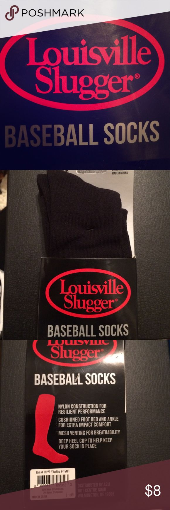 Youth baseball socks Two pairs of youth Louisville Slugger baseball socks shoe size 9-1. In box. Accessories Socks & Tights