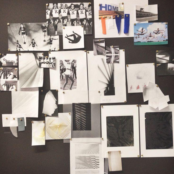 Fashion Moodboard - sportswear project, initial research & concept mood board; the fashion design process // Tascha Elliott