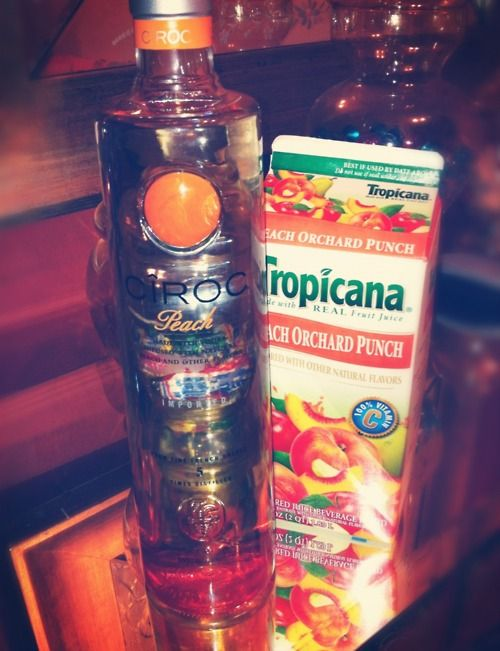 Ciroc Peach With Tropicana Peach Orchard Punch
