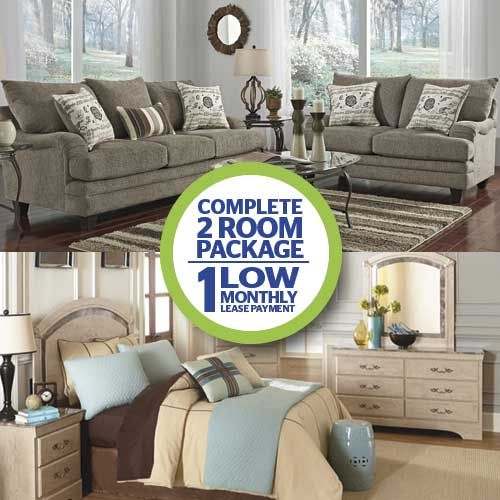 Aaron\'s 2 Room Package! 7-Pc Mello Living Room Collection and 9-Pc ...
