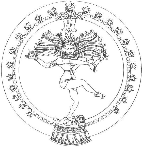 Mandala 224 Colorier Danse Shiva Mandala Gratuit 224
