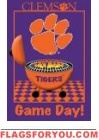 Game Day - Clemson Garden Flag