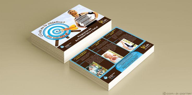 Flyer publicitario de Win Wellness Center en el Parque Tecnológico de Andalucía