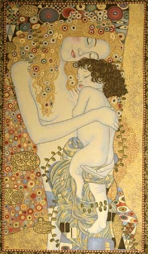 La representación del amor materno. Mother and child. Gustav Klimt.