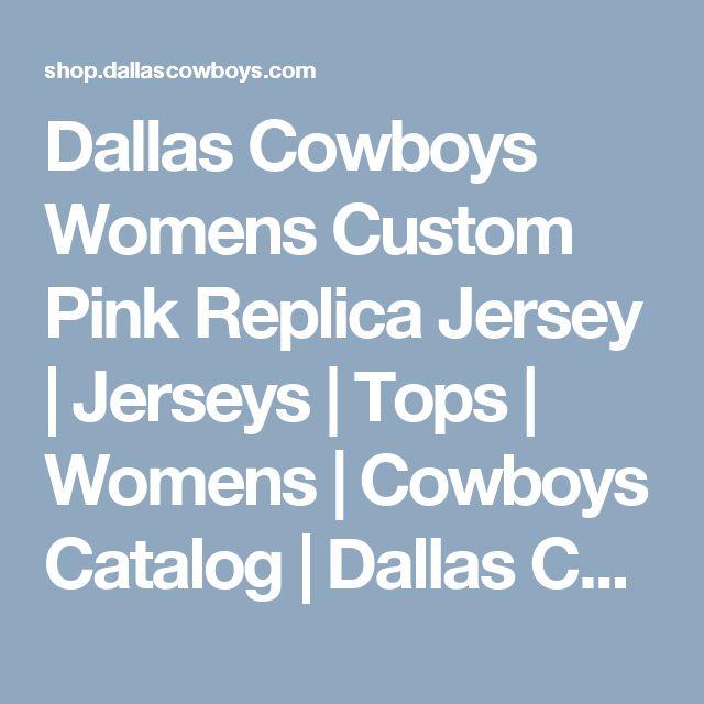 Dallas Cowboys Womens Custom Pink Replica Jersey | Jerseys | Tops | Womens | Cowboys Catalog | Dallas Cowboys Pro Shop