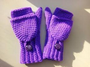 crochet convertible fingerless mittens - YouTube